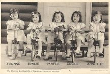 THE DIONNE QUINTS / Born may 28th 1934 between corbeil and callendar on five Identical girls. Yvonne , Annette, Cecile,Emilie and Marie.
