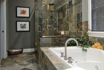 Bathrooms with slate tile