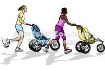 Running and Walking / Running and Walking Illustrations, Clipart and Designs