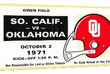 OU Football Tickets / OU Sooners Football Tickets. OU football tickets turned into OU football ticket art and football ticket gifts! Vintage OU football tickets. OU football tickets in the 47 STRAIGHT Collection™ of over 2,000 historic college football tickets.  / by 47 STRAIGHT™