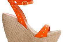 orange and pink  shoe