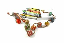Out of the Crayon Box Collection - Handmade Jewelry Necklaces / Your behind the scenes look at my exciting new glass bead jewelry in crayon box colors