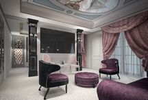 The idea to design a classical - eclectic ambience / Hotel room interior, luxury hotel interior, luxury interior design, modern hotel furniture