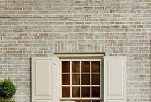 limewashed brick / by Jeanell Wethington