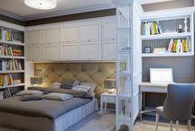 Идеи зонирования в спальне