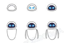 draw шаг. роботы