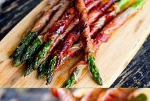 Baconbe tekert sparga