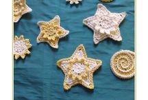 crocheted sea life  / animaux marins crochetés