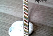 Tissage bracelet perle