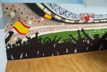 Football, soccer bedroom for boys / Football, soccer bedroom for boys. Football furniture. Boys' bedroom. Football, soccer wall mural. Soccer bedroom. Football bedroom. #wallmural #boysbedroom #footballfurniture #soccerfurniture #footballbedroom #soccerbedroom