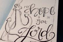 lettering & sketch