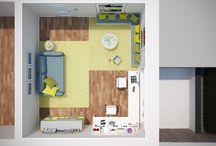 Projekt KASTANIENWEG Kinderraum / Idee, Konzept, Planung, 3D Visualisierung und Rendering, Innenausbau, Inneneinrichtung