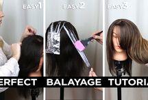 Схемы окрашивания волос