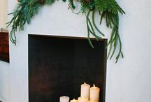 Fireplace / Fill wooden box with candles
