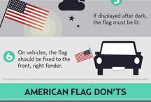 Flag Etiquette / Learn about how to properly display the US Flag!