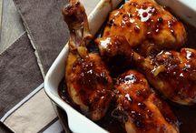 poulet miel soja