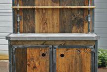 drewno stal