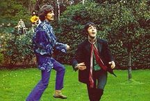 George and Paul play real Football.. 1967 ✌⚽