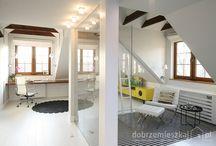 Dom w Milanówku / www.tissu.com.pl / Poddasze domu w  Milanówku w  artystycznej oprawie