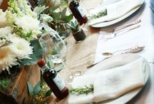 Napa Valley Dinner Party / Looking for a Napa Valley Style? Use these pictures for inspiration and table setting ideas to create your own Napa Valley Theme Dinner Party. Succulents, wine and rosemary are just a few ideas.