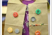 disfraces material reciclable niños