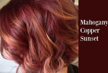 Copper & Red highlights.