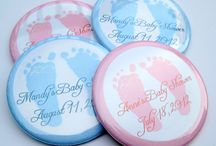 Baby Shower Personalized Button Magnets