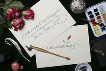 Houston Calligrapher - Wedding Calligraphy / PenDance Calligraphy & Engraving, LLC specializes in fine hand lettering and computer calligraphy for weddings. We address envelopes, design invitations, and fill in place cards and escort cards.
