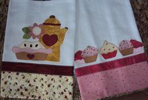 Kitchen Towels, Curtains and Potholder Ideas / by Charlene Hanson