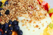Owoce, jogurt