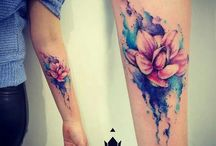 Tattoo Mujer Water Colors