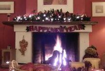 χριστουγεννιάτικη διακοσμηση τζακιου