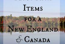New England Canada trip
