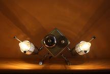 D-Cube / Lamp, funny table lamp, charming and unique, cute table lamp, desk lamp, handmade... Punk Trek