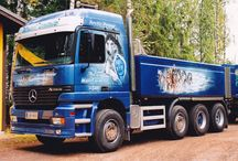 Airbrush artworks by Design Simo Riikonen / Here is some of my airbrush artworks: trucks, cars, buses, portraits and other artworks.