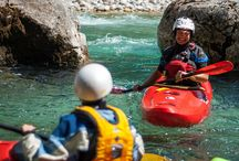 White Water Kayaking fun on the Soča in Slovenia / Home to the finest white water kayaking class room in Europe, the Soča River.  And the location of Gene17kayaking's Fundamental Core Skills Trip, amoungst others See http://gene17kayaking.com/whitewater-kayaking-trips/soca-fundamental-core/