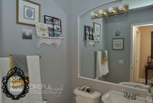 My Gray Bath MAkeover for $50 / First Home project for 2014