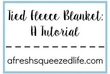 Tied Fleece Blankets