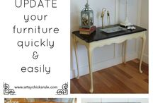 Before/After furniture and rooms / How to use what you already own and turn it into a peace of art~ / by Mademoiselle Rose