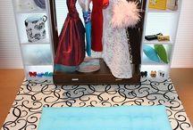 Barbie Funiture / Møbler barbie / Ideer til barbie møbler og opskrifter