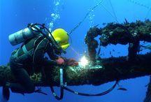 Werk onder water