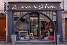La boutique / Découvrez notre boutique Les sacs de Juliette au 3 rue d'empare à Castres dans le Tarn.