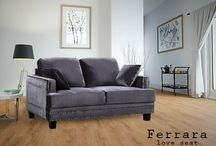 Ferarra Love Seats / Meridian Furniture- These Ferrara Love Seats are perfect for any contemporary home.  It features a gorgeous nail head design and is available Navy Blue.Grey, Black, and Beige.