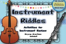 Music Ed Instrument Families / by Emma Jencson