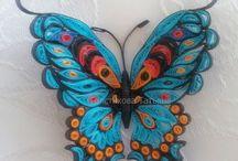 quilling motýli