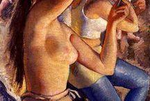 LOS DESNUDOS DE ZINAIDA SEREBRIAKOVA / Zinaida Serebriakova, nacida en Ukrania, 1884-1967.  Nos presenta en su trabajo una serie de cuadros sobre la belleza de la mujer en los tiempos de la Unión Soviética. Con ello trata de demostrar su amor al arte y a su país, situándola como una de las mejores pintoras de rusia.