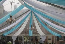 Carolina Inn - Tent Decor / Creative ways to add ambiance to tents and outdoor spaces / by Elizabeth Rubio