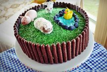 Reubs' 3rd birthday farmyard party