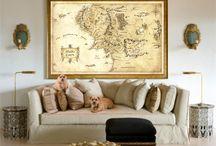 map design wall art