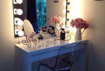 Vanity tour / Table beauty storage